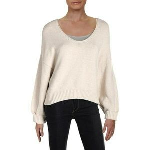 Free People Perfect Day Cream Slouchy Sweater L